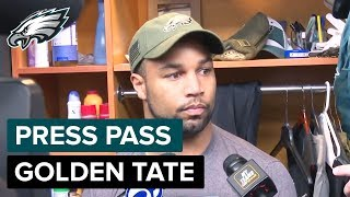 Golden Tate 'I'll Be More Confident This Time' vs. Cowboys | Eagles Press Pass