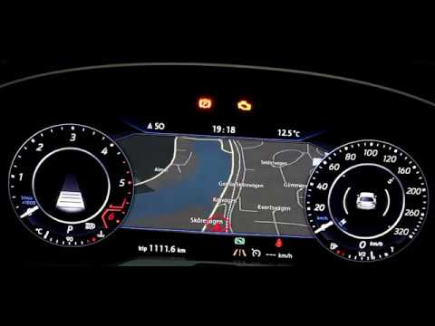 VW Active info display custom design dashboard / cluster tweak / dashboard  layouts