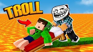 Minecraft : A MAIOR TROLLAGEM DO MINECRAFT ! - ( TROLL VS TROLL )
