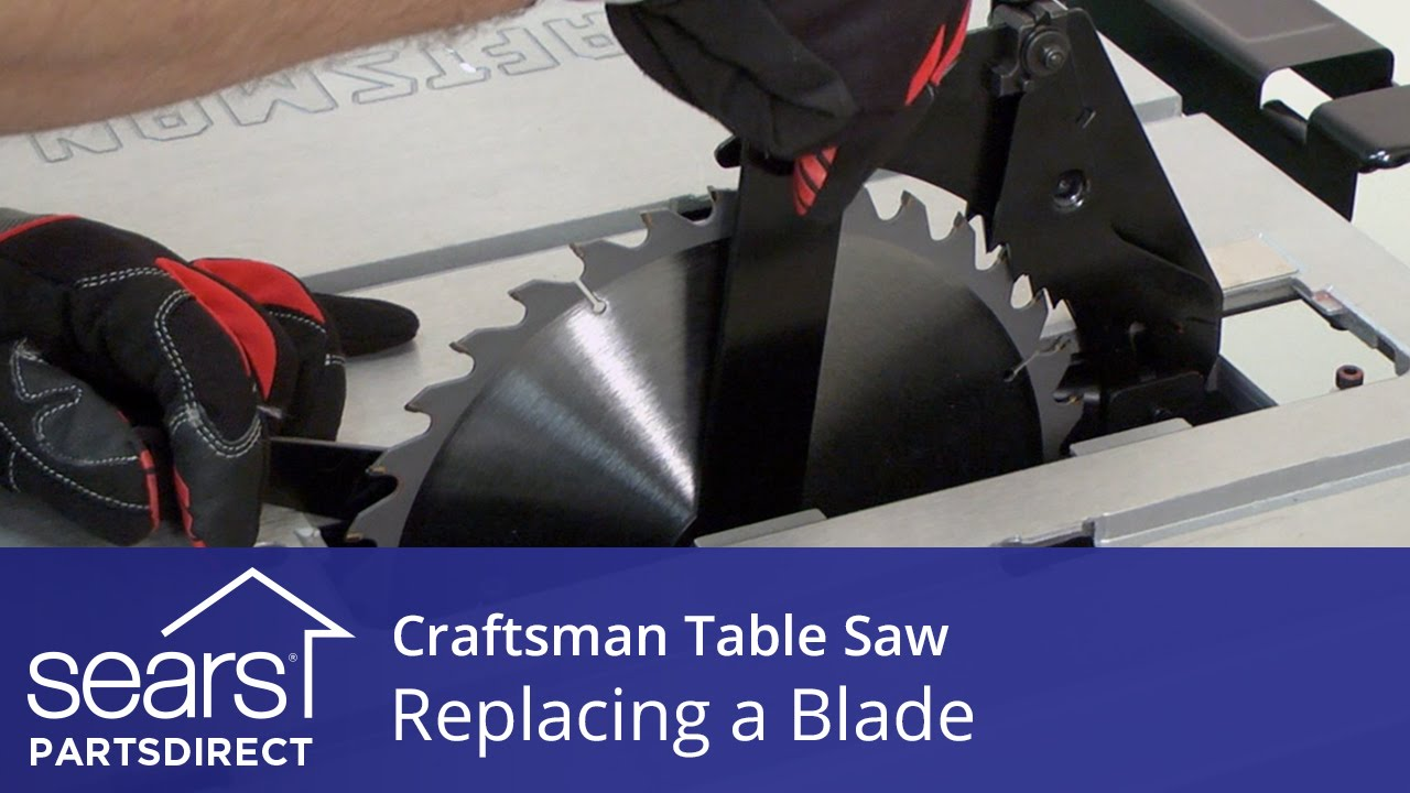 How to replace a craftsman table saw blade youtube how to replace a craftsman table saw blade greentooth Images