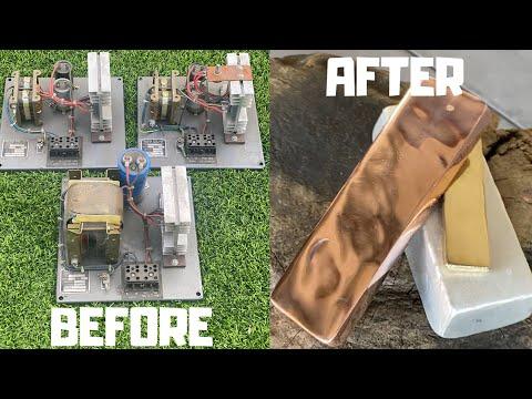 ACDC Converter Copper - Dumpster Diving - Trash To Treasure - ASMR Metal Melting - BigStackD Casting