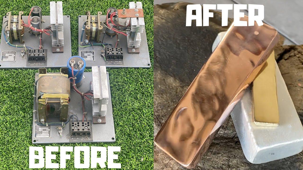 ACDC Converter Copper - Dumpster Dive - Trash To Treasure - ASMR Metal Melting - BigStackD Casting