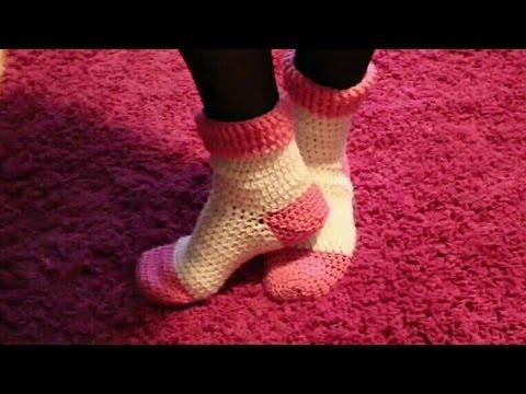 C mo tejer calcetines en dos agujas doovi - Como hacer calcetines de lana a dos agujas ...