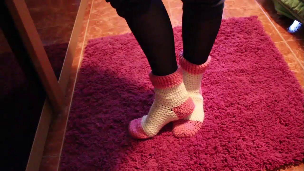 Tutorial ! Cómo hacer unos Calcetines (Socks ) a Crochet 1ª Parte ...
