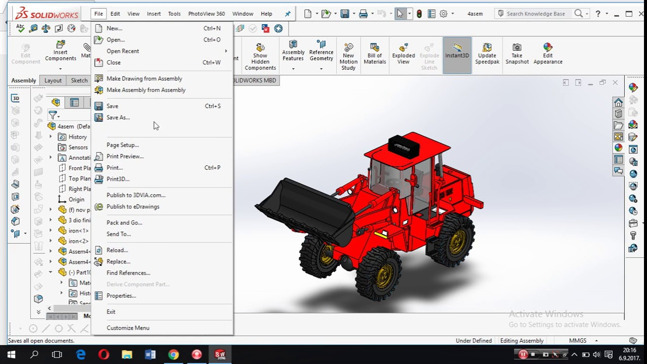 SolidWorks File Conversion STEP, IGES/JPG