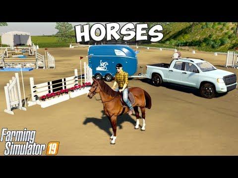 Farming Simulator 19 | HORSE JUMPING!!