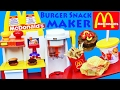 McDonalds BURGER MAKER Happy Meal Magic Hamburger Snack Maker + French Fries New DIY Recipe for Kids