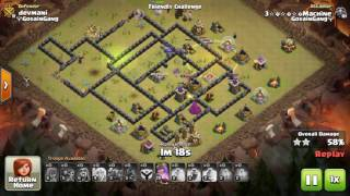 Max Th9 attack strategy after march 2017 update clash of clans
