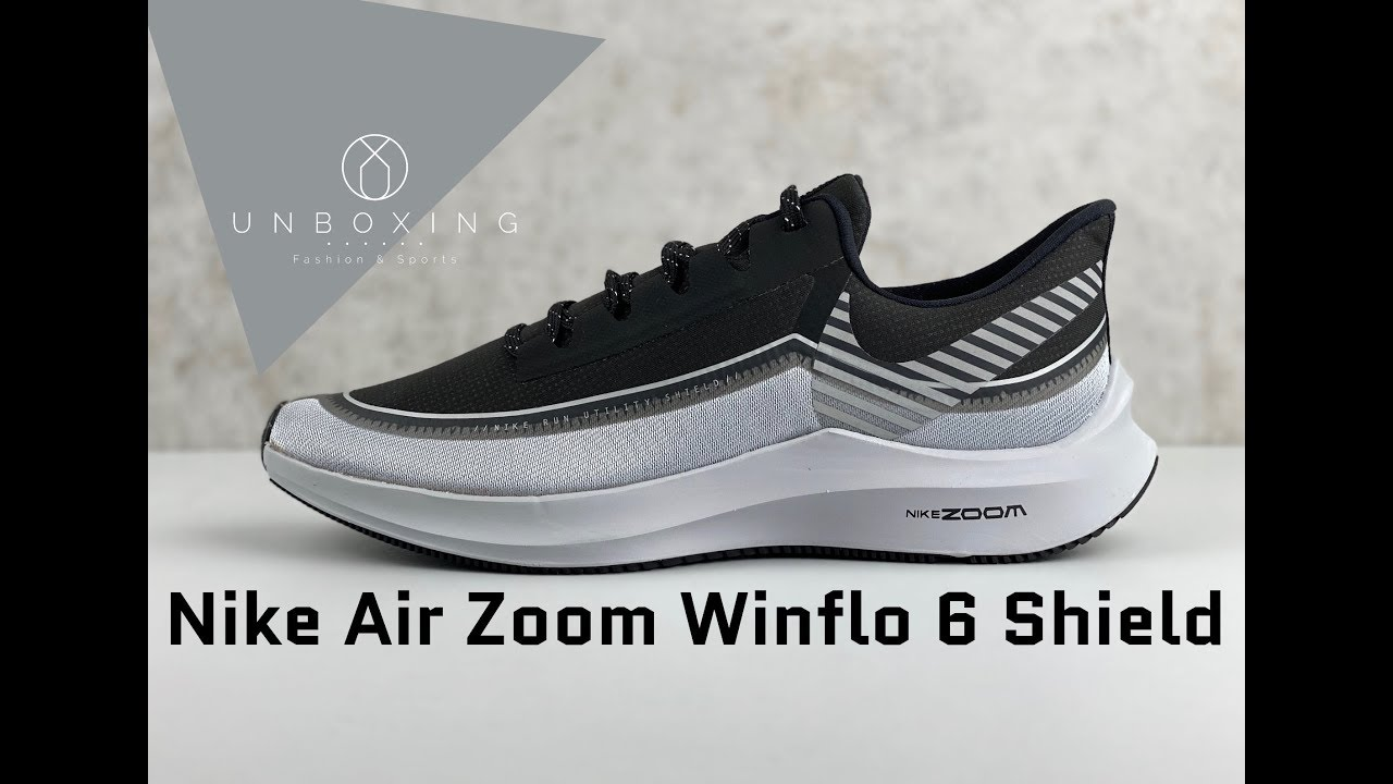 Nike Air Zoom Winflo 6 Shield 'Black/silver wolf grey' | UNBOXING & ON FEET  | fashion shoes |