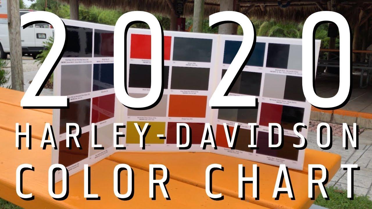 2020 Harley Color Chart.2020 Harley Davidson Model Color Chart