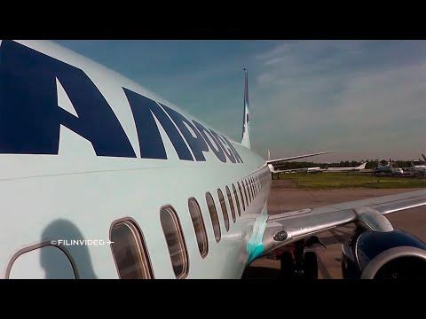 Летим в Мирный: Боинг 737-800 Алроса : Москва - Новосибирск (1 часть)