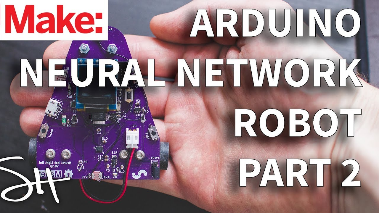 Arduino neural network robot part soldering and