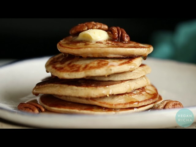 VEGAN BANANA OAT PANCAKES - Gluten-Free | Vegan Richa Recipes
