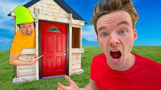 LAST TO LEAVE WORLD'S SMALLEST HOUSE WINS!! - Challenge