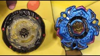 BATTLE: Variares D:D Blue Phantom Ver. VS Phantom Orion B:D Skeleton Ver. - Beyblade Metal Fight 4D