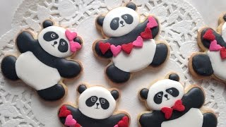 How To Decorate Panda Cookies For Valentine's Day!