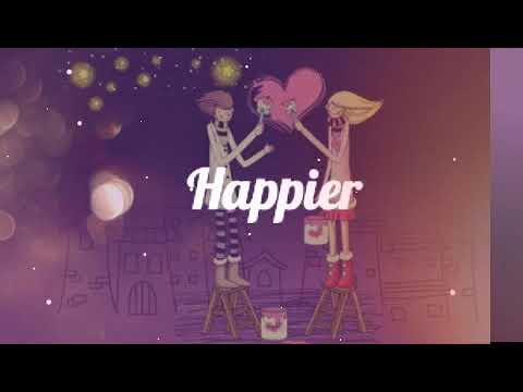 Ed Sheeran - Happier Lyrics - Lirik Lagu #1