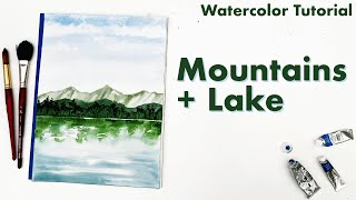 Paint this fun and simple mountain lake scene with me!