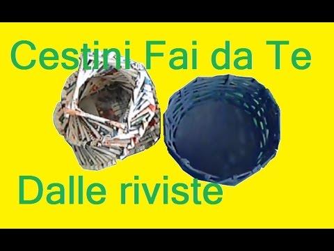 Cestini fai da te dai volantini con dedary 86 youtube - Pannelli decorativi fai da te ...