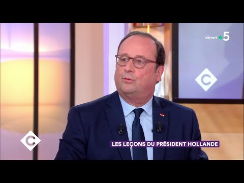 Les leçons du président Hollande - C à Vous - 12/04/2018