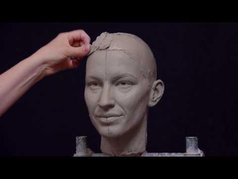 Portait Sculpture Demonstration: Gisele Bündchen by Amelia Rowcroft