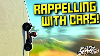 Rope Rappelling With Cars Is Hilariously Ridiculous - Scrap Mechanic Multiplayer Monday! Ep 119