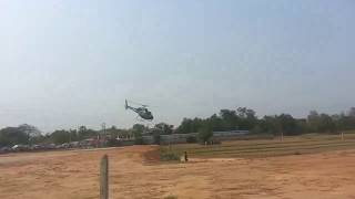 Helicopter's Samdech Hun Sen landing in Prey Veng Province,Cambodia 2018