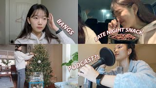 Download lagu [Youjin VLOG] Starting a Podcast, Frozen 2, Tree Shopping, rEtuRn of my bangs!🎄🤶🏼