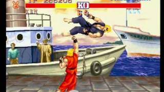 Ken's Stage - Street Fighter II Champion Edition - Playstation