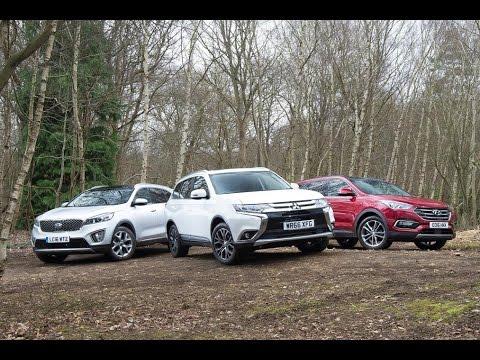 Mitsubishi Outlander vs Hyundai Santa Fe vs Kia Sorento  YouTube