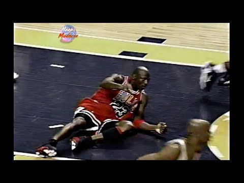 Last 1 Minute of Bulls vs Pacers Game 6 in 1998 Playoffs! Michael Jordan Loses Game Winning Shot!