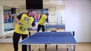 Отличная подача для любителей (настольный теннис видео-уроки)