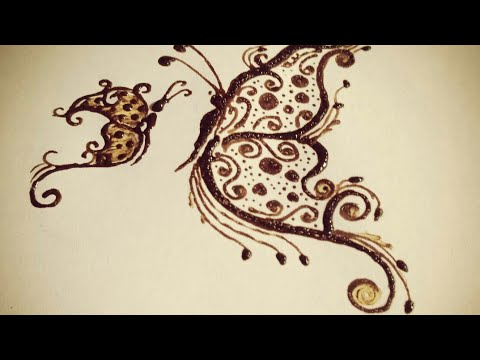 Butterfly Tattoo How To Make Butterfly Henna Butterfly One Side
