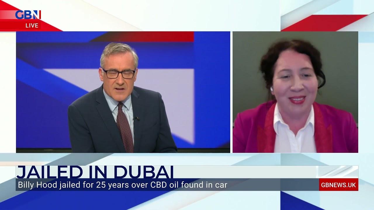 GB News: Colin Brazier interviews Radha Stirling of Detained in Dubai on CBD oil in Dubai