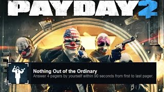 PAYDAY2 Nothing Out of the Ordinary (easy way)