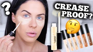 AMAZING NEW CREASE PROOF CONCEALER TESTED FOR 12 HOURS!!