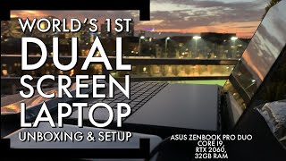 Unboxing/Setup 1st DUAL SCREEN Laptop Asus Zenbook Pro Duo, Surface Neo Comp? - BEST GAMING RIG 2019