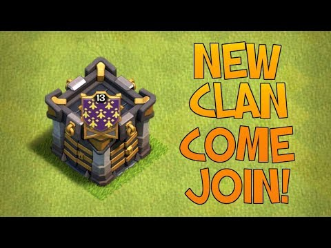 CREATING A BRAND NEW CLAN! - JOIN THE YOUTUBE GENERAL FAMILY! - Clash Of Clans Live!