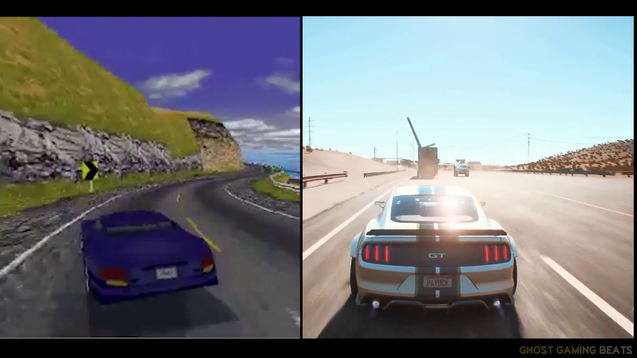 Evolution Of Need For Speed 1994 Vs 2017 | Nfs Payback Vs Nfs 1 Gameplay  Hd  Ghost Gaming Beats 03:03 HD