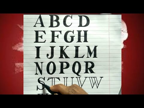 How To Write Times New Roman Fonts A To Z | Calligraphy  Writing | Easy For Assignment,Project
