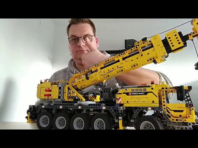 Lego Schwerlastkran 42009 aus der LED und Lego Schmiede