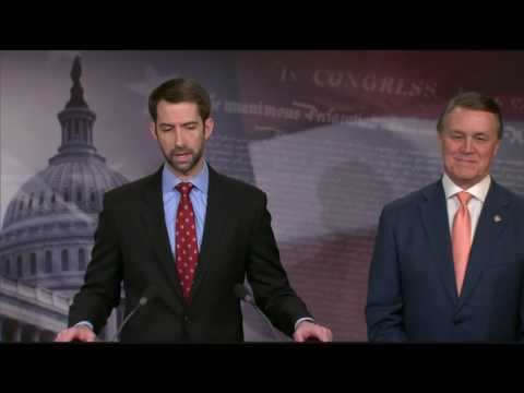 Senators David Perdue and Tom Cotton RAISE Act Press Conference