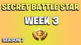 Secret star week 3 - Fortnite season 7