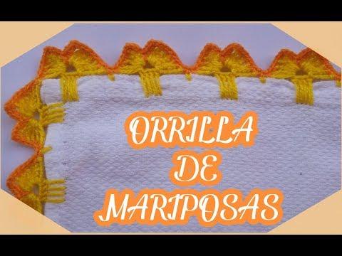 Orilla de Mariposas en Crochet para Servilletas  Orilla de Mariposas #20