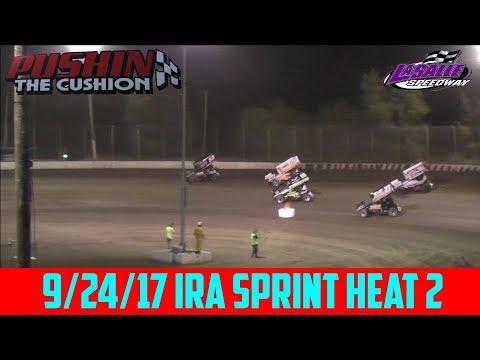 LaSalle Speedway - 9/24/17 - IRA Sprints - Heat 2