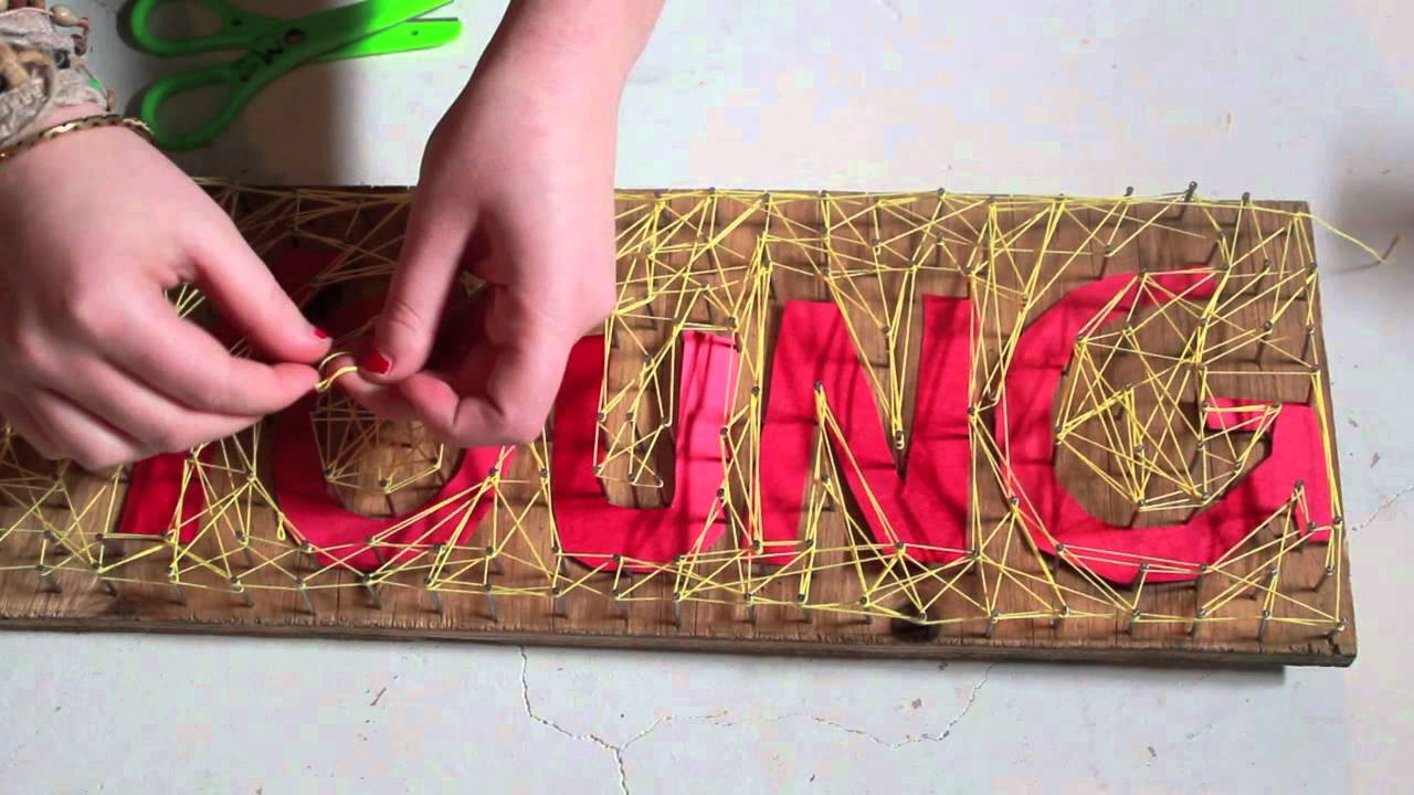 We Are Young- Fun. (String Art) - YouTube