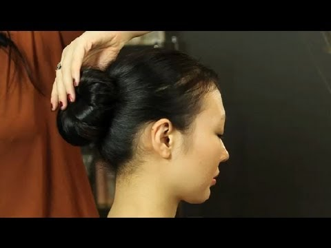 How to Do a Sock Bun With Long Hair : Updos & Hair Styling