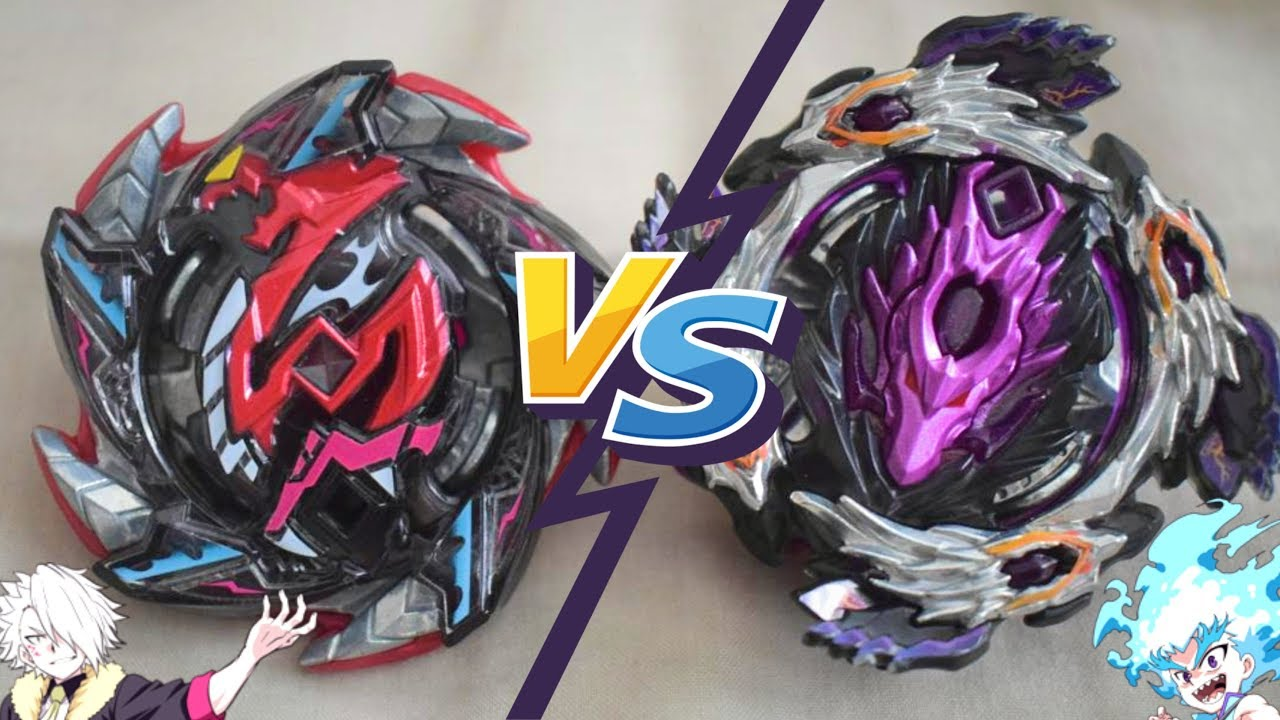 Hell Salamander vs Dark Bloody Longinus - Beyblade Burst Turbo Suoh vs Lui