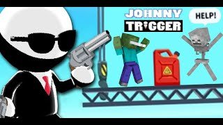 Monster School : JOHNNY TRIGGER CHALLENGE - Minecraft Animation