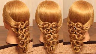 """Причёска """"Павлин""""   Авторские причёски   Лена Роговая   Hairstyles by REM   Copyright ©"""